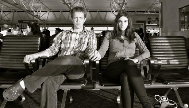 Nos aseguramos de sacar una última buena foto antes de subirnos al avión camino a santiago.
